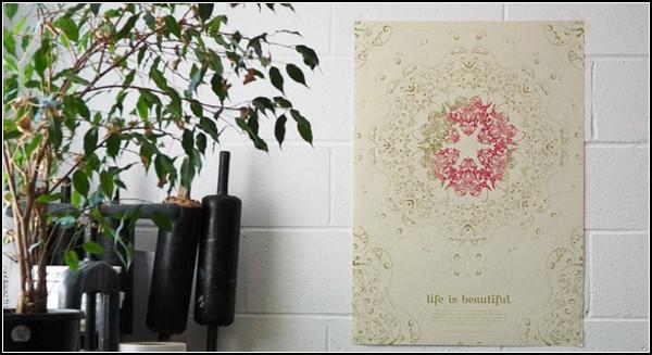Цветущие обои и исчезающий календарь