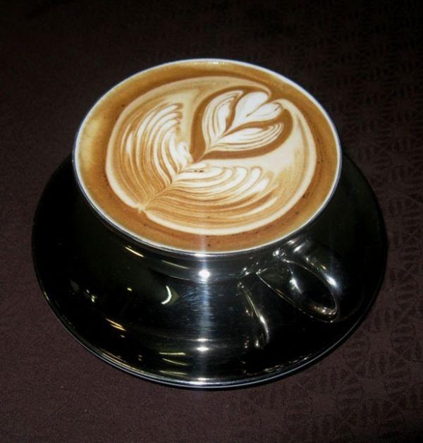 Красивая пенка на кофе