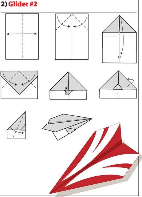 Бумажный самолетик (13 фото)