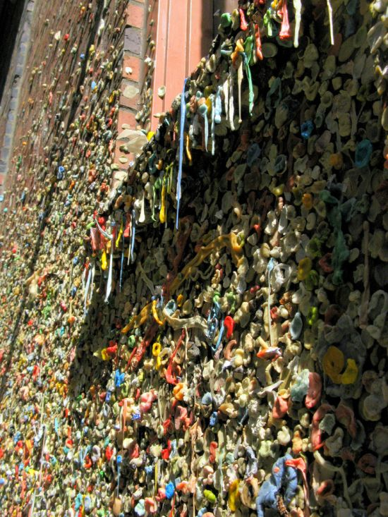 Стена из жвачек в Сиэтле