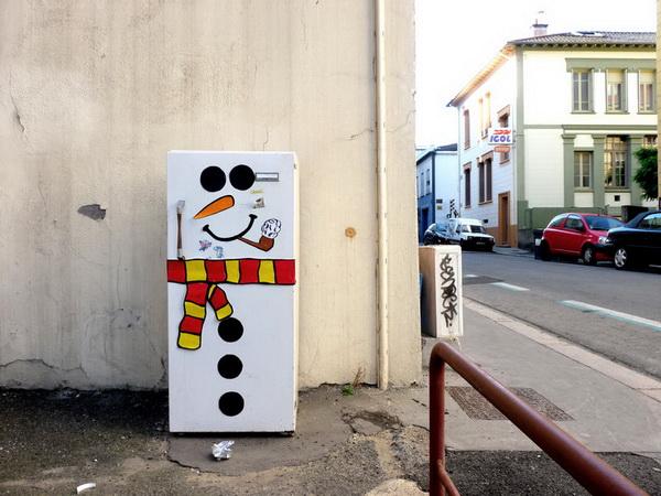 Рисунки на улице от OakoAk